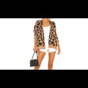 Superdown leopard cardigan in mocha